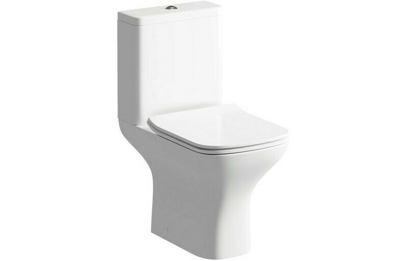Cedarwood C/C Open Back WC & Soft Close Seat