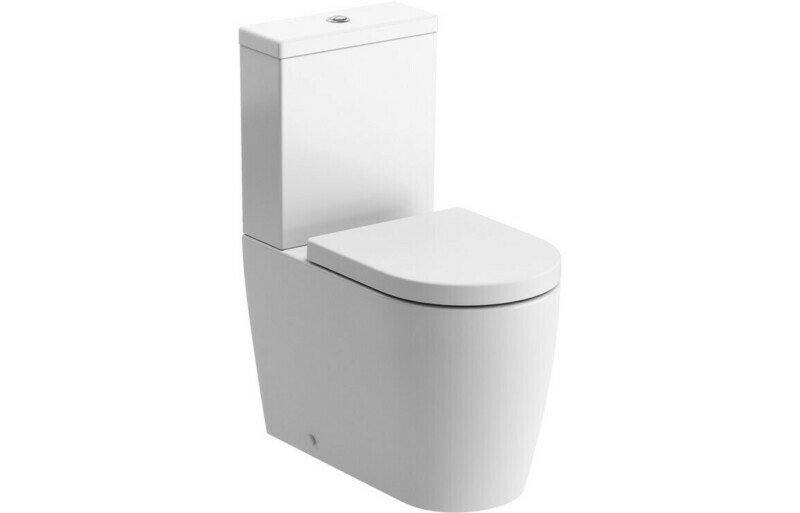 Cilantro Rimless C/C Fully Shrouded WC & Soft Close Seat