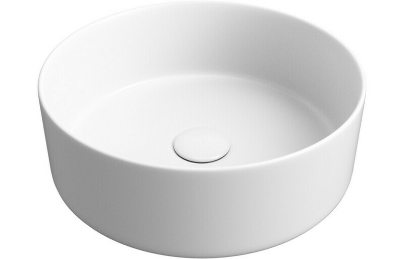 Luxey 355mm Ceramic Washbowl & Waste - Matt White