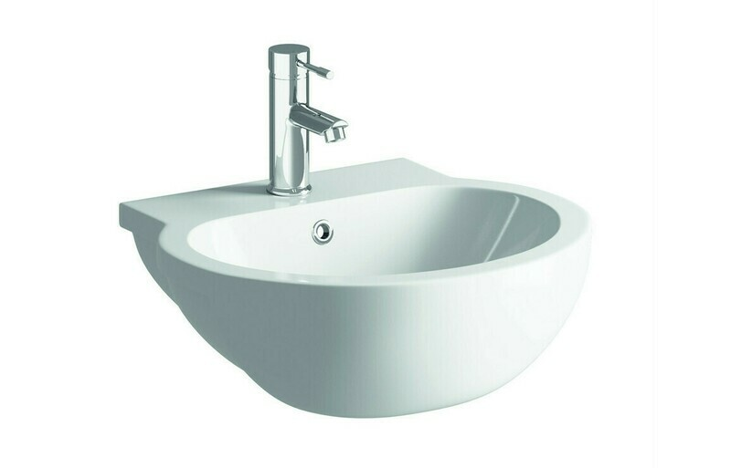 Mimosa 540x500mm 1TH Semi Recessed Basin