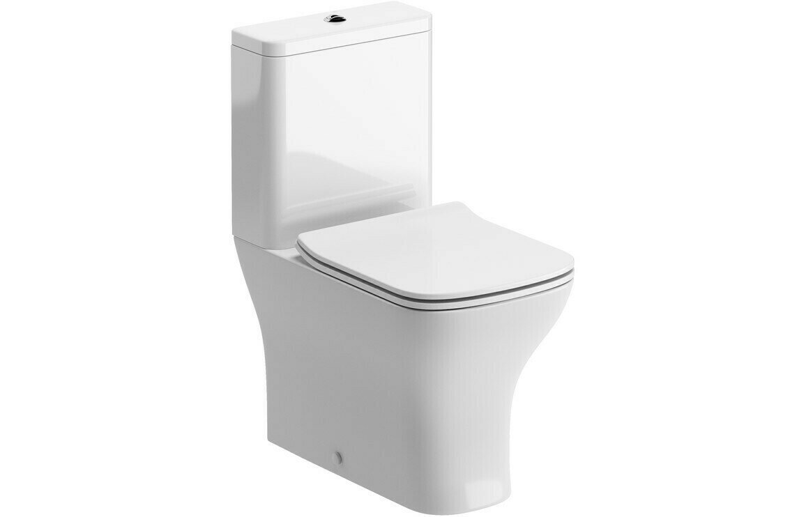 Cedarwood C/C Fully Shrouded WC & Soft Close Seat