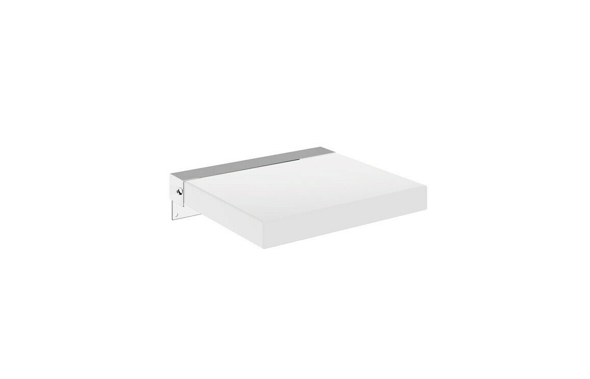 Inclusive Design Compact Square Padded S/Seat White