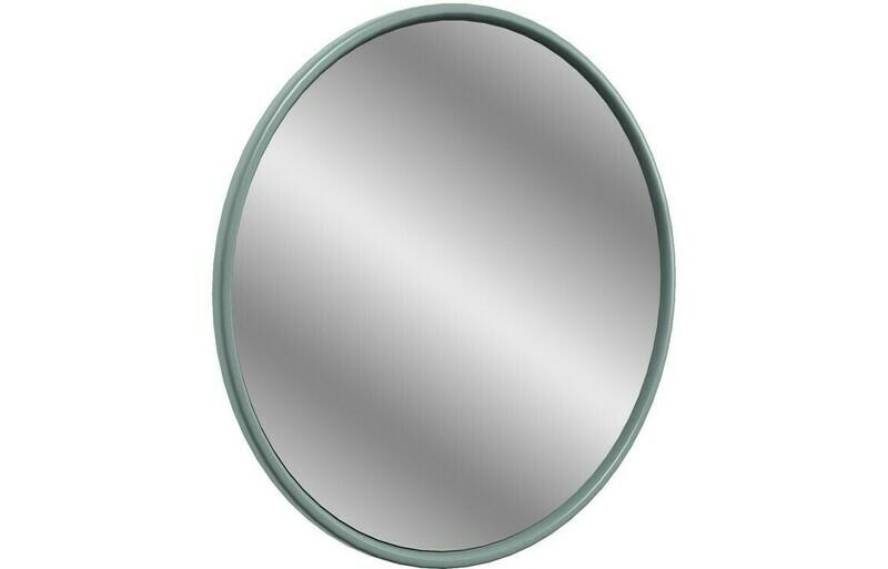 Lucia 550x550mm Round Mirror - Sea Green Ash