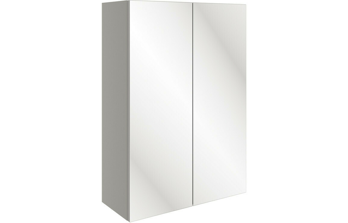 Valesso 500mm Mirrored Unit - Pearl Grey Gloss