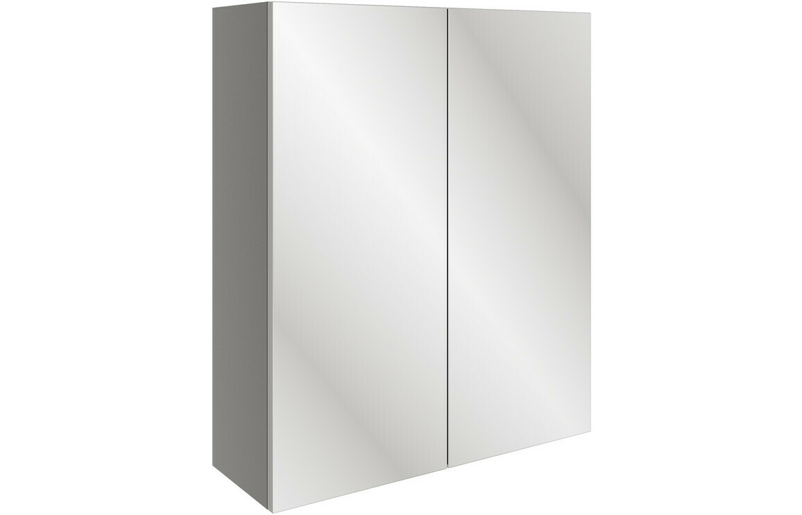 Valesso 600mm Mirrored Unit - Onyx Grey Gloss