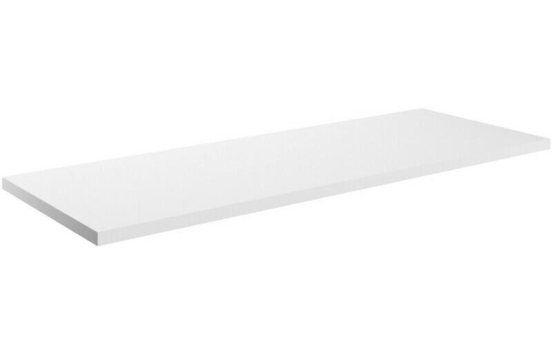 Morina 1200x460x25mm Laminate Worktop - White Gloss