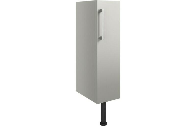 Alba 200mm Full Height Toilet Roll Holder - Light Grey Gloss