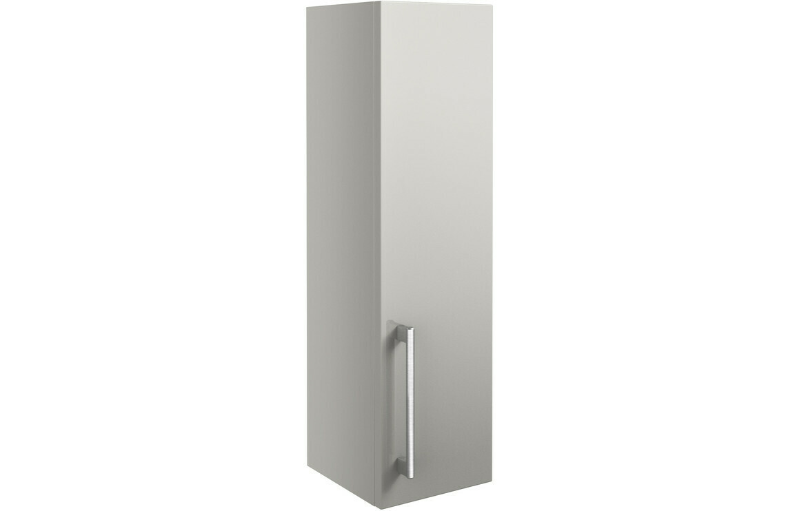 Alba 200mm Wall Unit - Light Grey Gloss