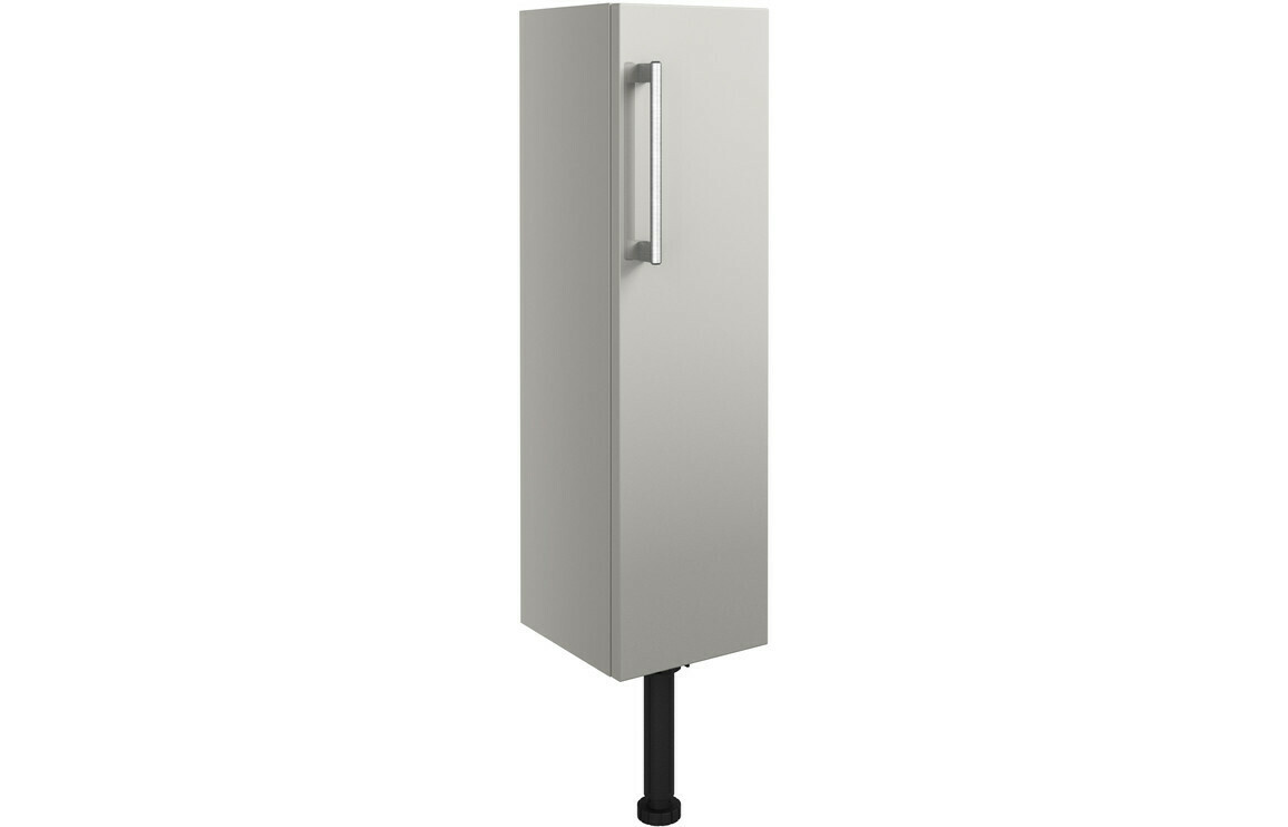 Alba 200mm Slim Base Unit - Light Grey Gloss