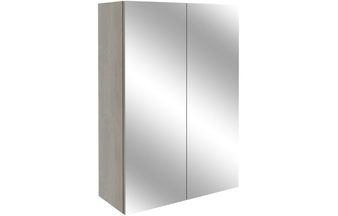 Alba 500mm Mirrored Unit - Grey Nebraska Oak