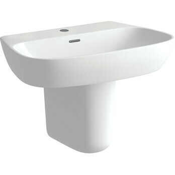 AMYRIS 600X400MM 1TH BASIN & SEMI PEDESTAL