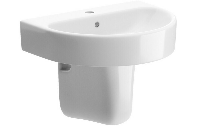 Cilantro 555x430mm 1TH Basin & Semi Pedestal