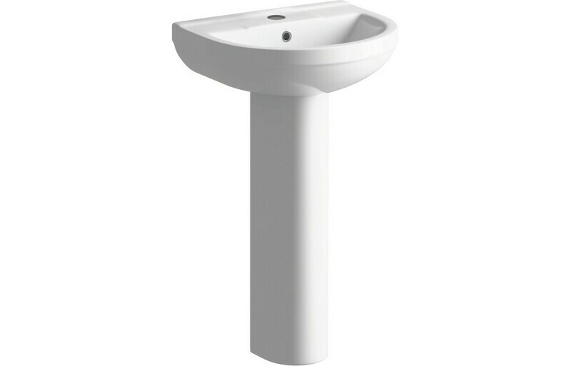 Laurus² 500x390mm 1TH Basin & Full Pedestal