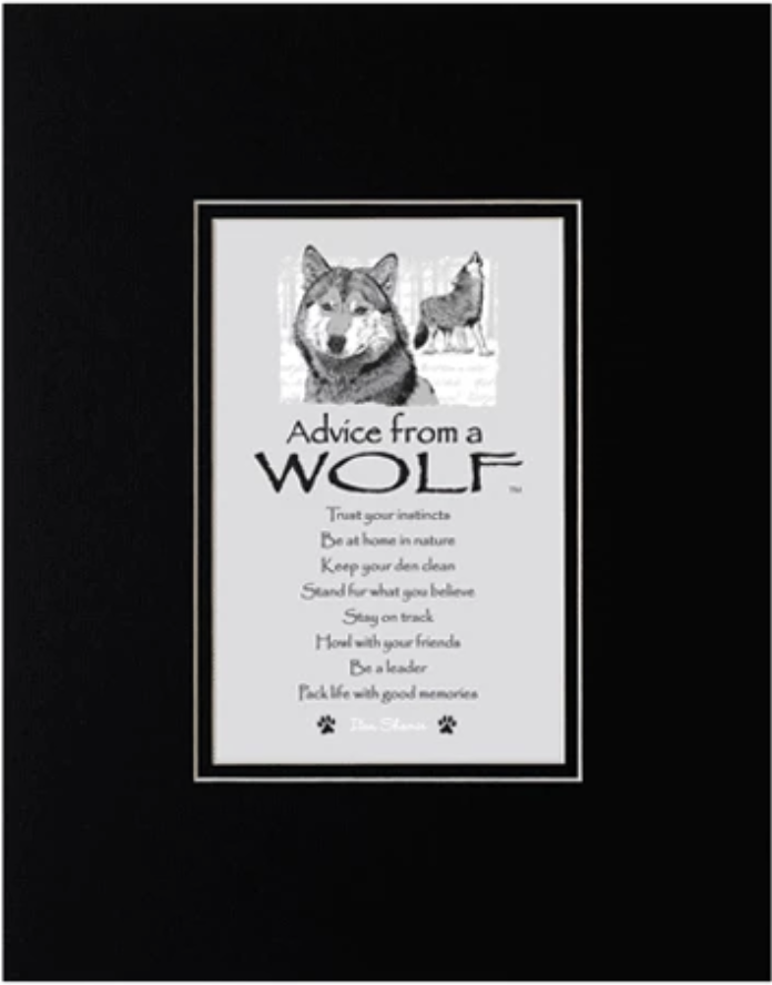 """""""Advice from a Wolf"""" Matted Print"""