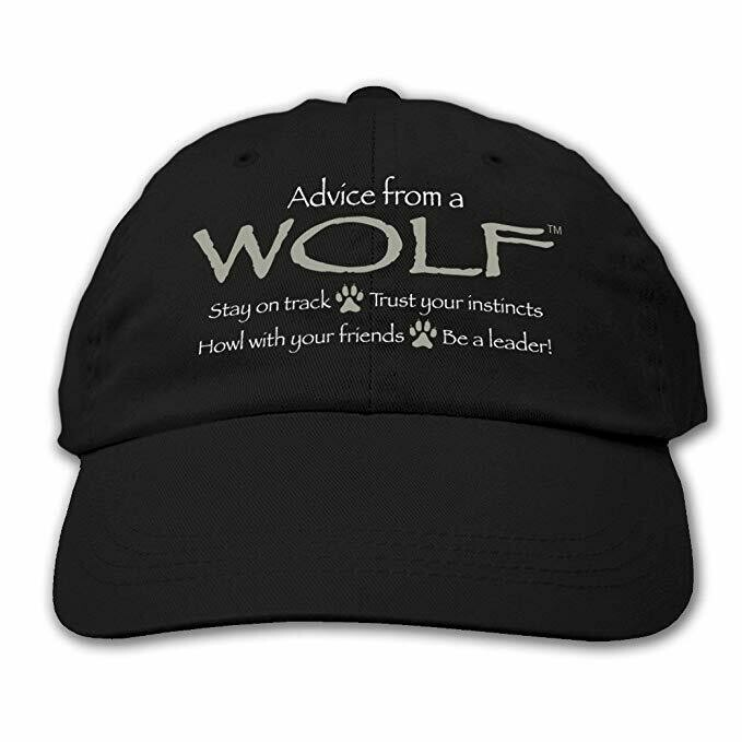 Advice from a Wolf - Embroidered Black Hat