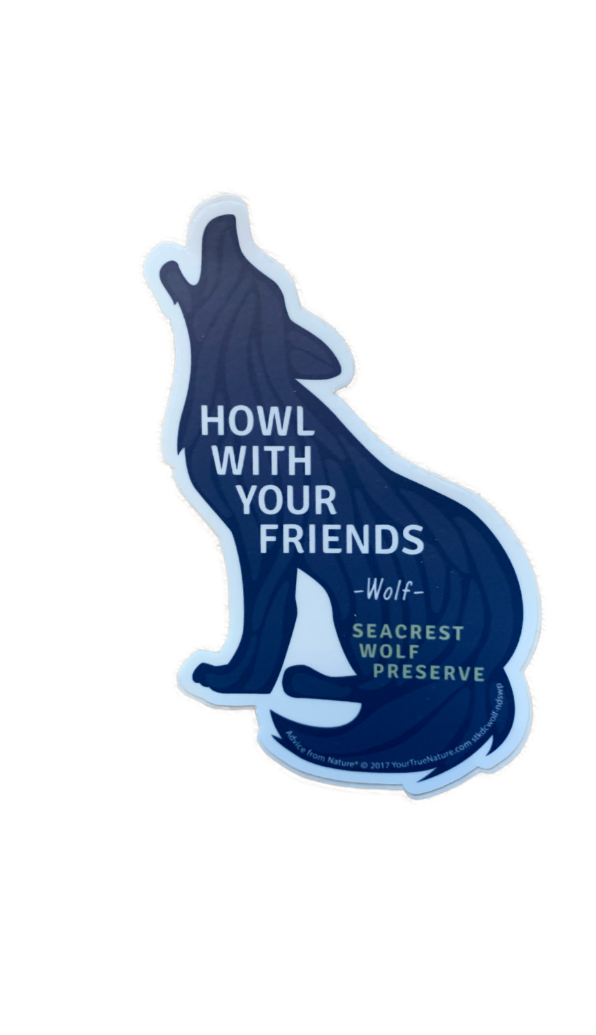 """Howl With Your Friends"" Wolf Sticker"