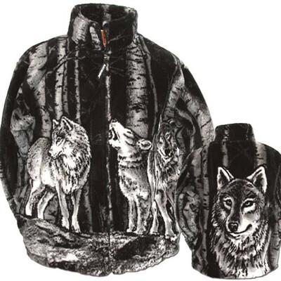 Cozy Monogrammed Wolf Jacket - Black