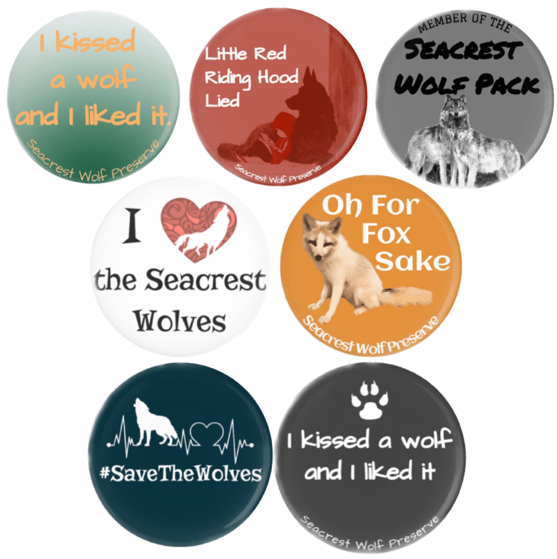 Seacrest Round Button Pins (1.5 inches) - 7 Different Designs