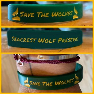 """""""Save The Wolves"""" Silicon Wristband"""
