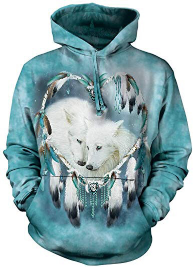 Arctic Wolf Heart Hoodie