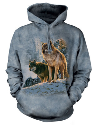 Wolf Couple At Sunset Hoodie