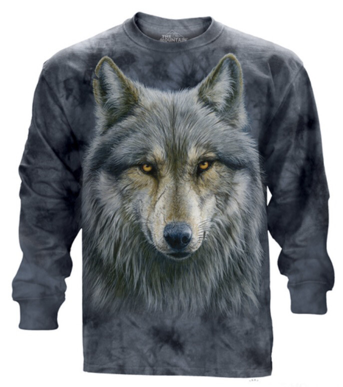 Warrior Wolf Long Sleeve Shirt