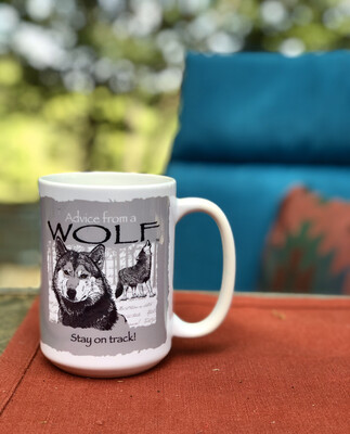 Advice From A Wolf Coffee Mug