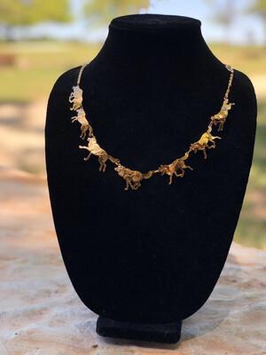 Wild Bryde Running Wolf Necklace