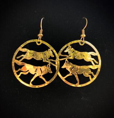 Wild Bryde Running Wolves Earrings
