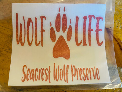 Wolf Life Decal