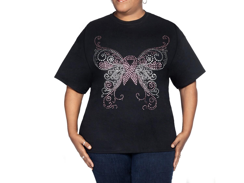 Brest Cancer Butterfly T Shirt