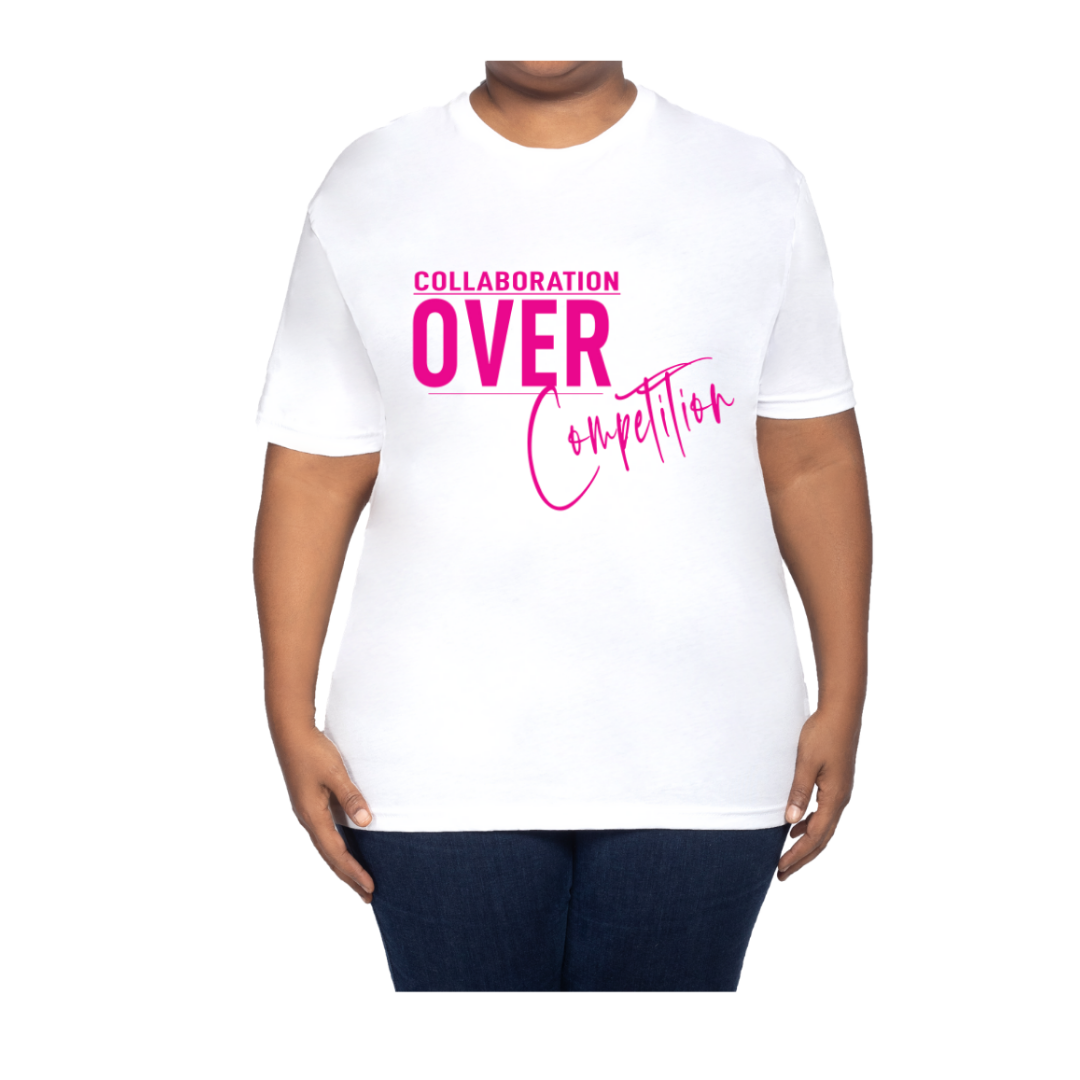 Collaboration Over Competition T Shirt  V-neck Tee