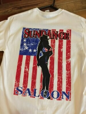 Sundance Saloon Parker Strip White Flag Tshirt