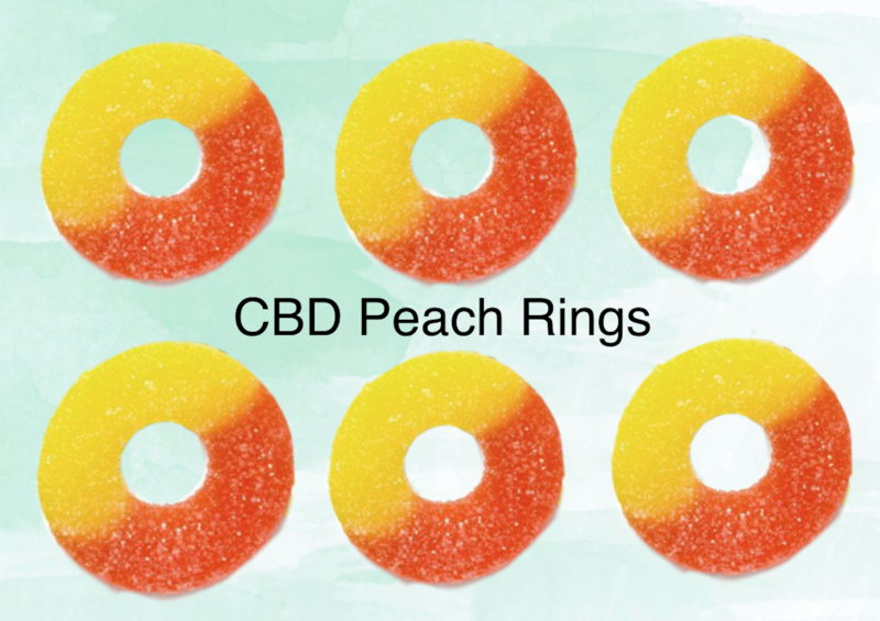 CBD Peach Rings 300 Mg