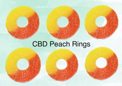 CBD Peach Rings 300 Mg