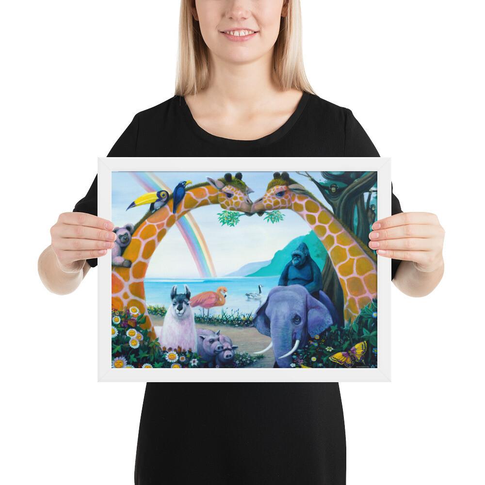 """""""Animal Heaven"""" Framed Print"""