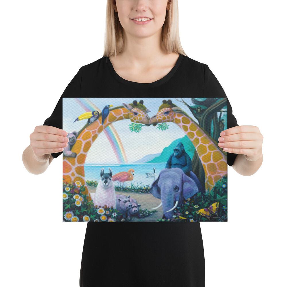 """Animal Heaven"" Canvas Print"