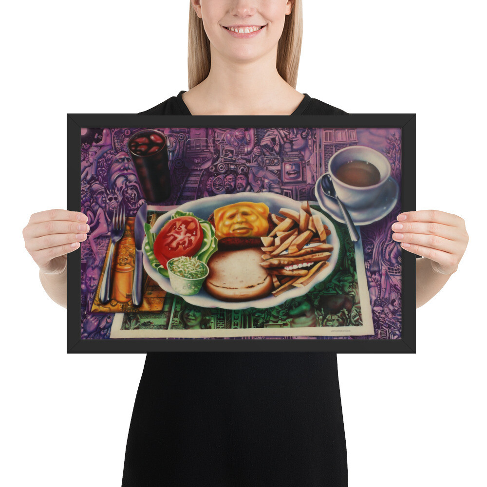 """Lunch""  Framed Print"
