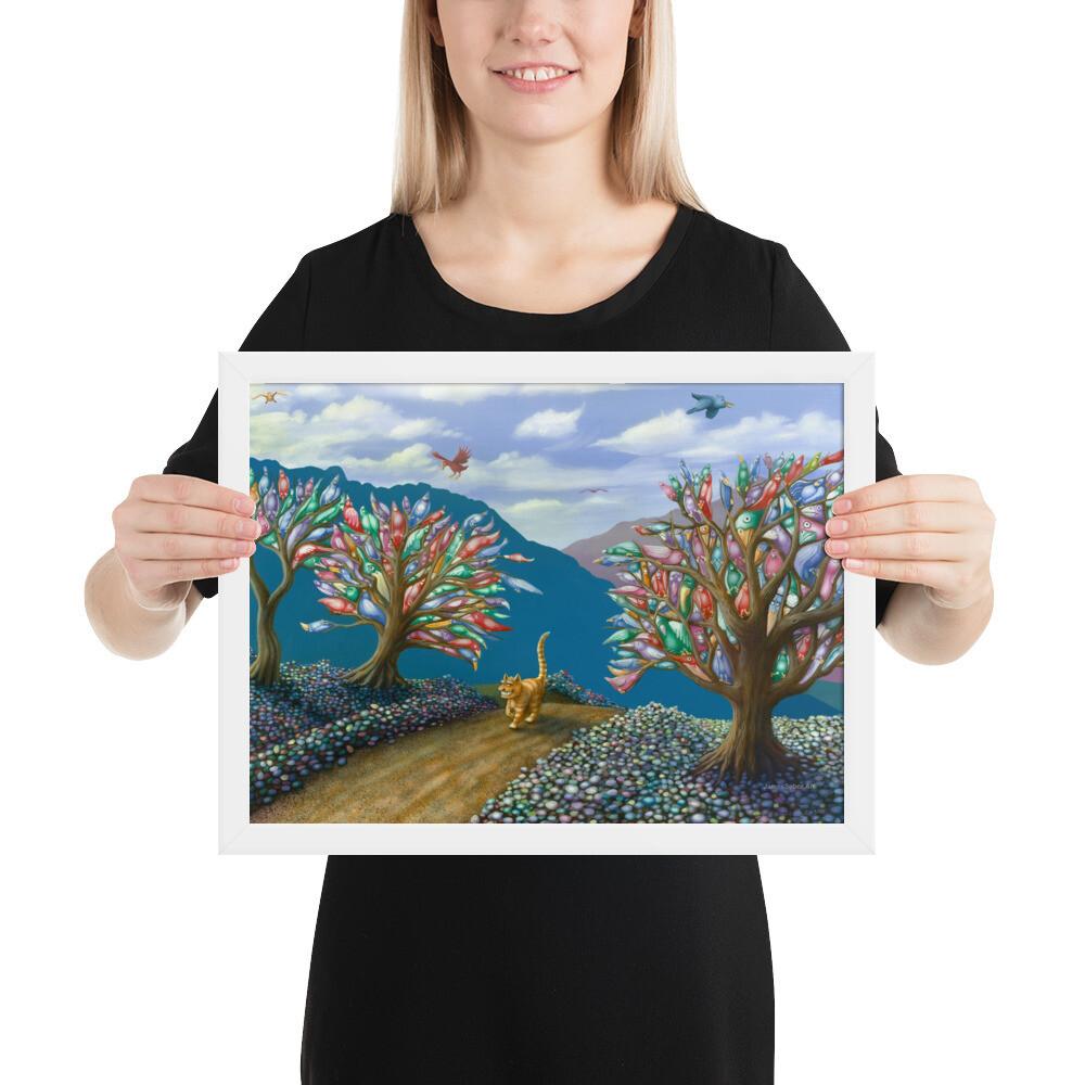 """""""Feline Fantasy"""" Framed Print"""