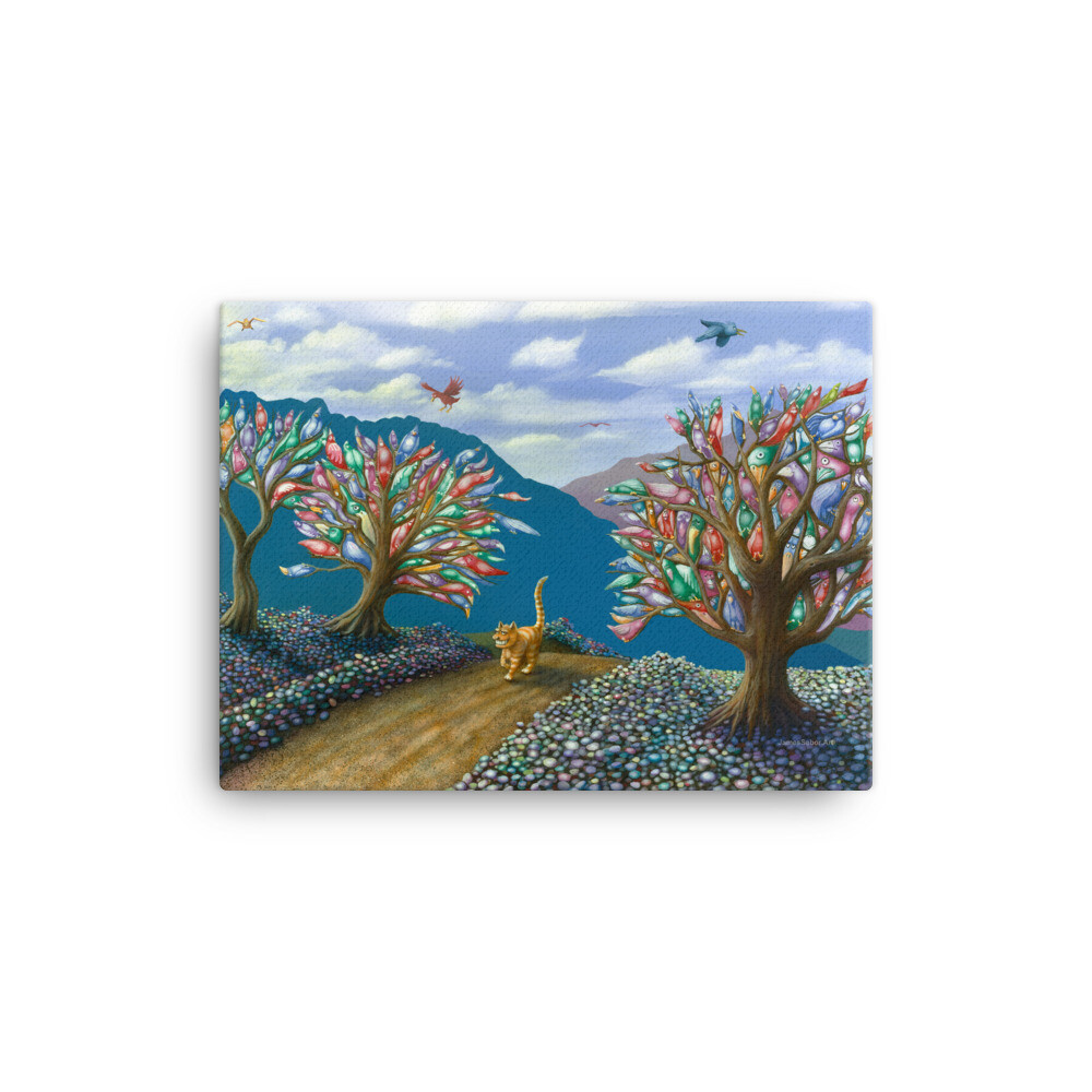 """Feline Fantasy"" Canvas Print"