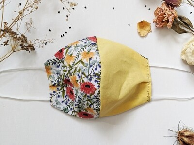 Vintage Floral with Green and Yellow Split
