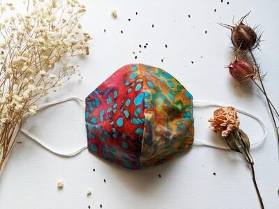 Vibrant Batik + Solid Peacock