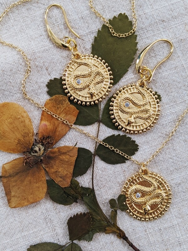 Tiamat Earrings + Necklace Set