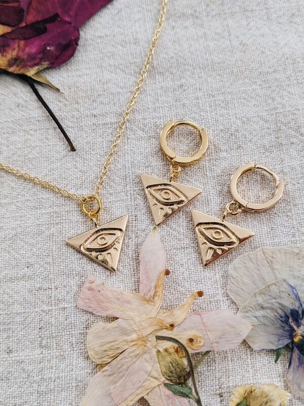Iris Necklace + Earring Set