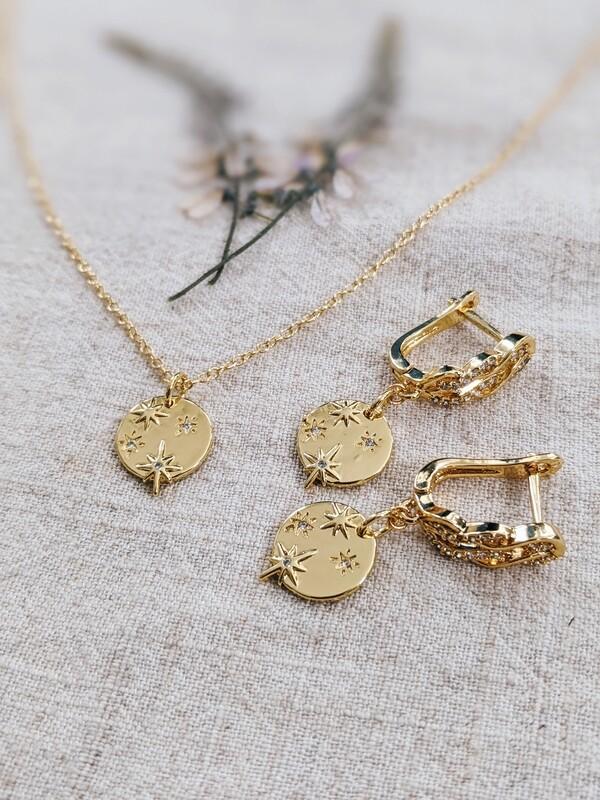 Polaris Necklace + Earring Set