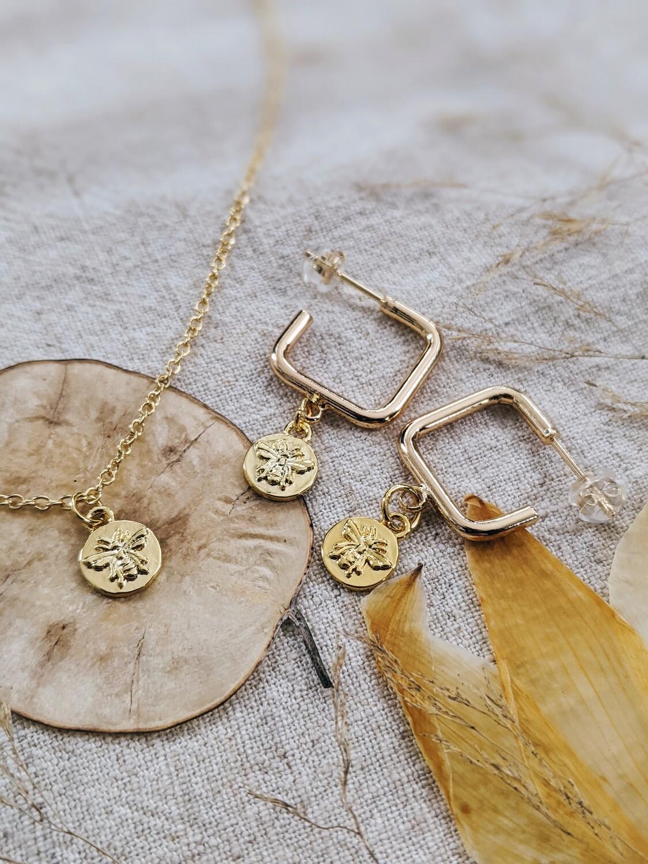 HoneyBee Necklace + Earring Set