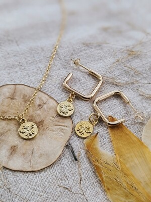 HoneyBee Necklace + Earring Set