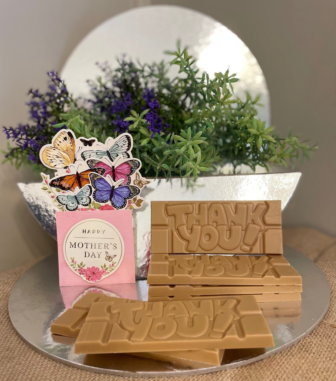 Mothers' Day - Gold Chocolate 'Mandaang Guwu' (Thank You) Bar