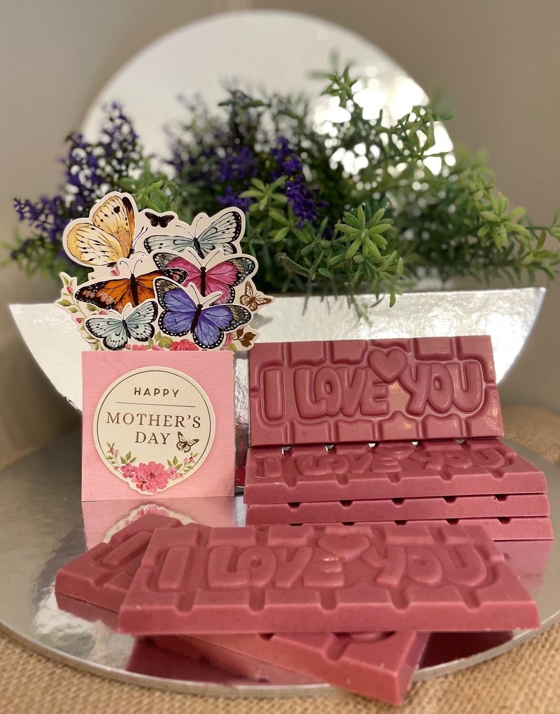 Mothers' Day - Ruby Chocolate 'Marrumban-Nhugu' (I Love You) Bar