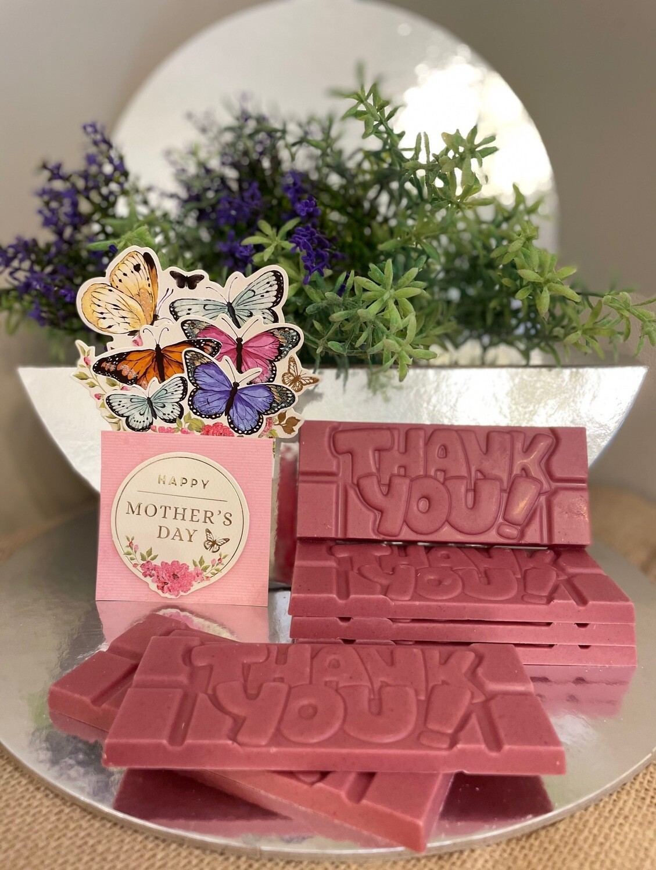 Mothers' Day - Ruby Chocolate 'Mandaang Guwu' (Thank You) Bar